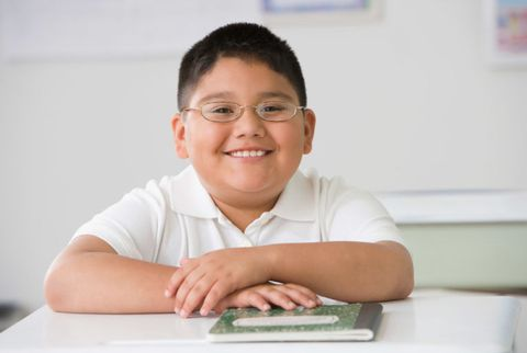 overweight child at school