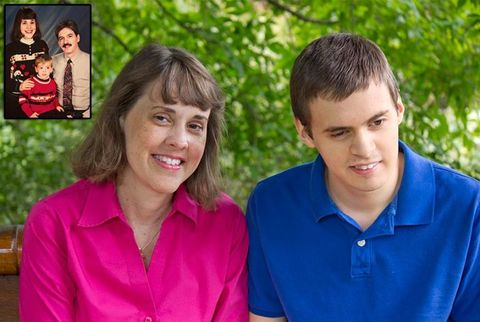 autistic boy with family
