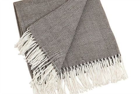 saro herringbone throw blanket