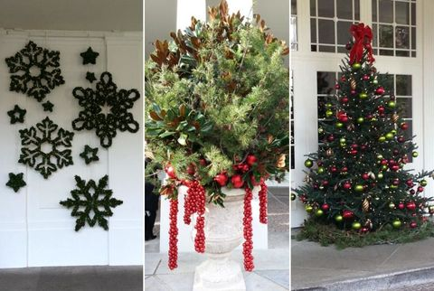 white house outdoor holiday decorations