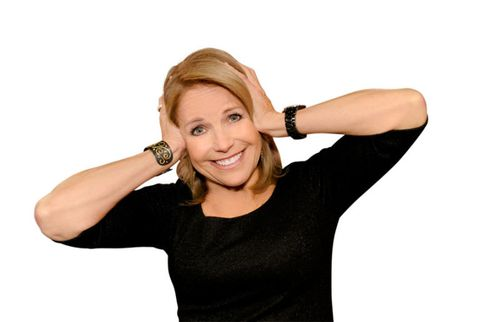 katie couric covering ears