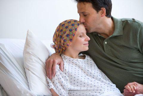 sick wife and husband