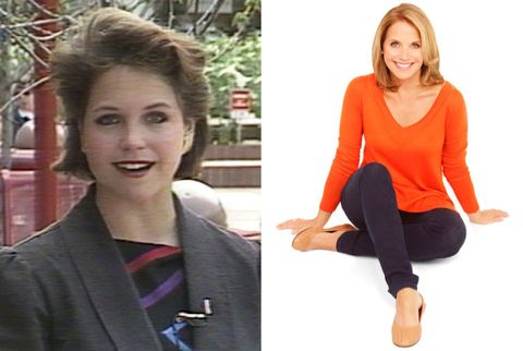 katie couric as a young reporter and now