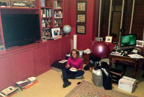 katie couric in her messy office