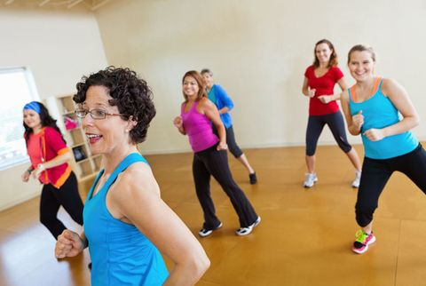 woman teaching zumba