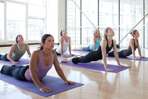 women's yoga class
