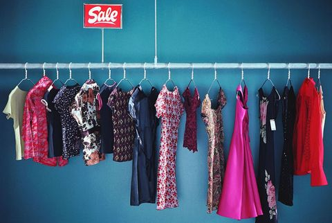 clothes on sale rack