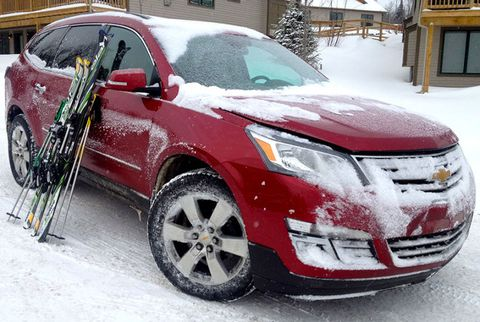 Couples Ski Getaway in a Chevy Traverse