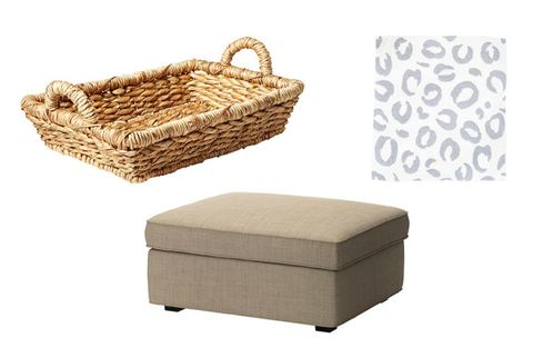 smith and hawker basket and footstool with storage