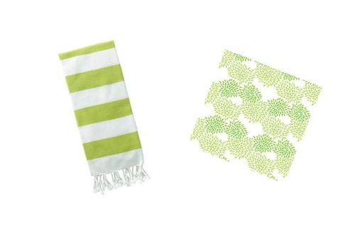 towel and wallpaper