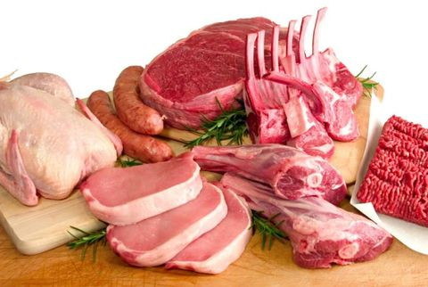 assortment of raw meat