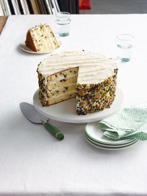 """<p>This four layer cake is unique and maintains the traditional cannoli flavor.</p> <p><strong>Recipe:</strong> <a href=""""cannoli-cake-recipe-wdy0315"""" target=""""_blank""""><strong>Cannoli Cake</strong></a></p>"""