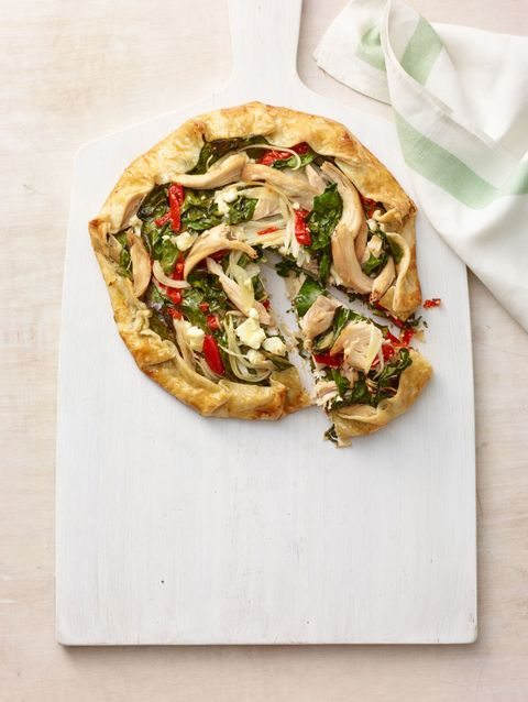 """<p>Save time by shredding the chicken while its still warm. The tender meat will easily fall from the bones, cold meat is tougher to pull away.</p> <p><strong>Recipe:</strong> <a href=""""mediterranean-chicken-galette-recipe-wdy0315"""" target=""""_blank""""><strong>Mediterranean Chicken Galette</strong></a></p>"""