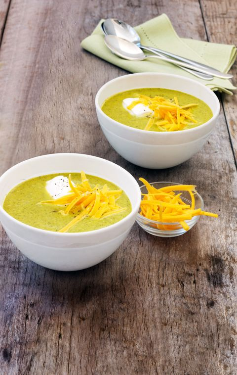 """<p>v</p> <p><strong>Recipe:</strong> <a href=""""roasted-broccoli-soup-recipe-wdy0315"""" target=""""_blank""""><strong>Roasted Broccoli Soup</strong></a></p>"""