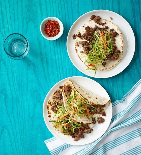 Korean Tacos with Asian Slaw