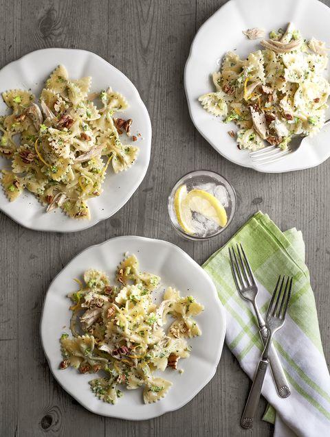 pasta recipes creamy chicken and broccoli pesto bow ties