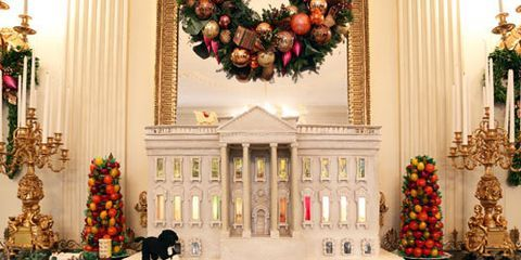 white house christmas decorations inside the white house during the holidays - Yellow Christmas Decorations