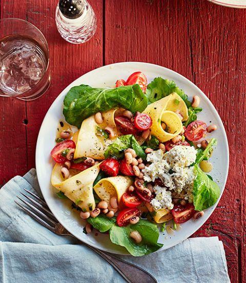 hearty salad recipes - Shaved Squash Salad
