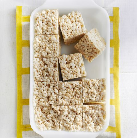 after school snacks - brown butter crispy treats