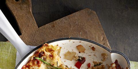 skillet mushroom and spinach lasagna