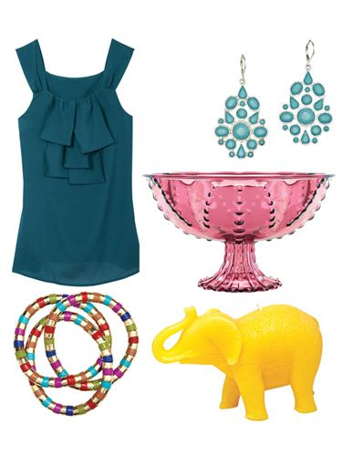 colorful fashion and home accessories