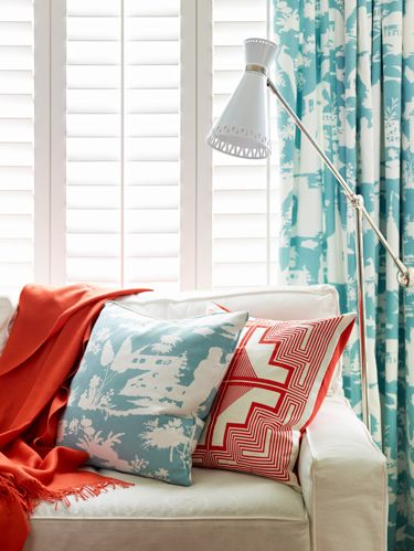 Want to wake up your décor? Take a cue from two adventurous homeowners, who made over their spaces by following several simple guidelines. Most important: When mixing patterns, keep the palette to a few colors, like this one in aqua, poppy and white. And remember: Whites don't play well together, so pick one shade and stick with it (otherwise an ultrabright white would make an adjacent cream look muddy). For more tips, plus real-life examples and ideas for getting the look, click through below.