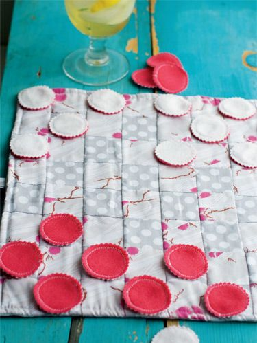 "<p><em>Project excerpted from Sew What You Love: The Easiest, Prettiest Projects ever. </em></p> <p>Finding something for kids to do on long trips is always a problem. This is a good old-fashioned solution that encourages interaction and will keep them engaged for a little while. Hopefully it will also save you from hearing ""Are we there yet?"" one more time. Once you arrive, use it for quiet evenings in the cabin or on picnics at the beach. The checkers are reversible, and the checkerboard serves as a storage bag. For a cute no-sew alternative, use big buttons for the checkers. It all rolls up and ties to fifi t neatly into your luggage.</p>"