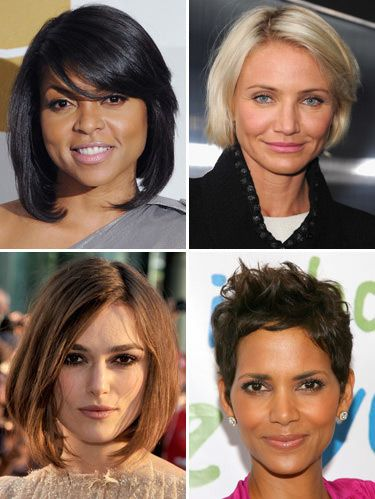 <p>Going short can be scary—especially if you've had long locks forever. But ensuring that you'll end up with a flattering style makes it easier to take the plunge. Check out these short celeb 'dos, which suit four different face shapes, to find the best one for you.</p>