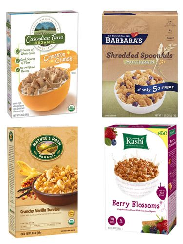 <p>Stuck in the supermarket aisle searching for a healthy cereal? You're not alone! Given the various labels and seemingly endless amount of options, it's tough to tell which brands really live up to their claims. Read on for nutrition expert Joy Bauer's top choices, which fit these guidelines: no more than 120 calories (without milk) or 8 g sugar per serving, at least 3 g fiber per serving and a first ingredient that's whole grain, such as whole wheat or oats.</p>