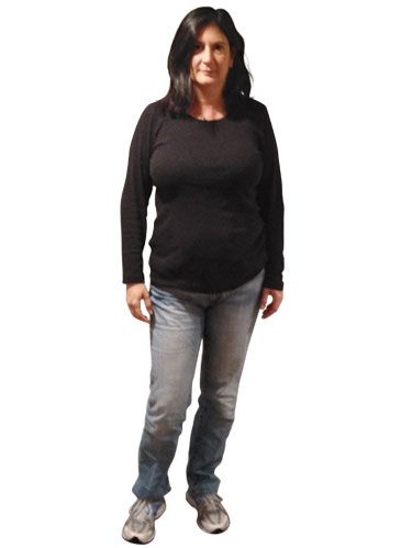 "<p>""My body shape changed. Now what?"" asks Sarah Greenstein of Merrick, NY. After she quit smoking, excess weight crept up suddenly. Now most of what's in her closet is just a little too snug. She has defaulted to a uniform of jeans and a black T-shirt, hoping to disguise the 10 pounds that have settled around her midsection. In fact, this let-it-all-hang-out combo only accentuates her tummy. What this busy mother needs: figure-friendly pieces that are pulled-together but fuss-free.</p> <p> </p>"