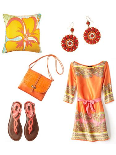 <p>These super steals—in tangerine, spring's hottest hue—will brighten up your home and wardrobe.</p>
