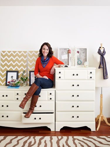 "<p>When Chicago accessories designer Jess Constable, owner of Jess LC (<a href=""http://www.jesslc.com/"" target=""_blank"">JessLC.com</a>), set out to organize her jewelry and scarves, she had two goals in mind. ""I wanted to store my things in a beautiful way, but I also wanted to be able to get to them easily,"" she says. So she thought outside the box—no standard jewelry cases or plastic bins here—and came up with clever storage solutions that combine function and fashion. Now all her favorite finishing touches, like the perfect pair of earrings or colorful scarf, are on display right at her fingertips.</p>"