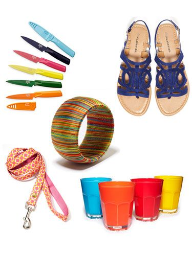 <p>Make a splash this summer with these 13 brightly hued bargains for your home and wardrobe.</p>