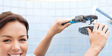 <p>Replacing an old, inefficient showerhead with a droplet-saving WaterSense-certified one can use up to 2,900 gallons less per year. First, plug the drain to prevent small parts from escaping, then use a wrench to twist off the threaded ring that holds the showerhead to the spout. Next, wrap a few layers of thread seal or plumber's tape around the threads on the spout, then screw on the new showerhead, tightening it with the wrench.</p> <p><strong>COST</strong> $8 and up for a showerhead</p> <p><strong>SAVINGS*</strong> Up to $6 per year</p>