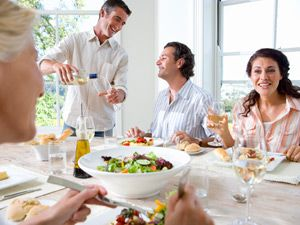 """<p class=""""ecxmsonormal"""">Inviting over a group of guests always sounds like fun. But if you're like many a hostess, the to-dos and """"what-ifs"""" (""""What if I don't make enough?"""" """"What if someone doesn't eat meat?"""") of feeding a hungry bunch can send even a calm cook into panic mode. """"Stress levels naturally run a bit higher when you're having a party,"""" says Dawn Simmons, a cooking instructor in Dallas and author of <em><a href=""""http://www.wiley.com/WileyCDA/WileyTitle/productCd-0764584693,descCd-buy.html"""" target=""""_blank"""">Cooking For Crowds For Dummies</a></em>. """"Planning is the key to alleviating a lot of anxiety, and if you have a great time, your guests will, too."""" Here, how to serve with success.</p>"""