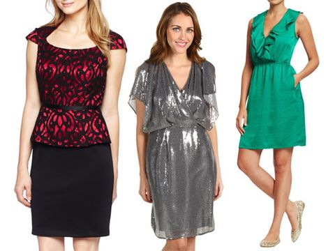 <p>It's officially holiday party season! So your mailbox (or inbox) may be filling up with a slew of sparkly invites for cocktail parties and office soirees. How do you dress up for the festivities and get through your gift list without going broke? We break it down for you with holiday dresses that flatter your figure and go easy on your bank account. From metallic sheaths to printed shifts, you're bound to find something stylish that suits you.</p>