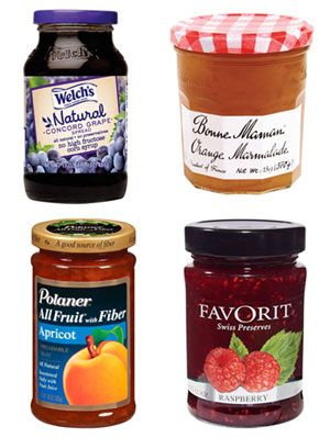 <p>Get ready for a jam session—a fruit jam session, that is. Perfect for spreading on your morning toast or enjoying with an after-dinner treat, flavor-packed preserves are sure to satisfy your taste buds. Find out what sets apart different fruit spreads and see which ones topped our list of favorites. </p> <p><strong>WHAT'S THE DIFFERENCE?</strong></p> <p>Most fruit spreads are made from a mixture of fruit, sugar, acid and pectin (a fiber that helps fruit thicken and gel).</p> <p><strong>JELLY</strong></p> <p>Made with fruit juice, it's semitransparent and jiggly.</p> <p><strong>JAM</strong></p> <p>Contains pieces of fruit and has a thick consistency.</p> <p><strong>PRESERVES/CONSERVES</strong></p> <p>Made from whole or large pieces of fruit (conserves contain a combination of fruits).</p> <p><strong>MARMALADE</strong></p> <p>A citrus spread similar to jelly but also containing fruit rind and pulp.</p> <p><strong>FRUIT BUTTER</strong></p> <p>These don't contain dairy—just fruit and sugar (and sometimes spices) cooked down to a thick, spreadable texture.</p> <p>Click through to learn more about the flavorful fruit jams, jellies and preserves <em>Woman's Day</em> editors loved most.</p>