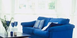 <p>Sprucing up your home's decor doesn't take as long (or cost as much) as you would think. Keep clicking for simple tips on how to upgrade with just one color. <em><br /><strong><br /></strong></em><strong>USE DARKER TONES</strong><em><strong> </strong></em>Like your favorite pair of dark jeans, rich, earthy blues look great with nearly everything (think of them as a more-interesting neutral for the home). Inexpensive pillows, lamps, rugs and upholstered furniture are easy to incorporate.</p>