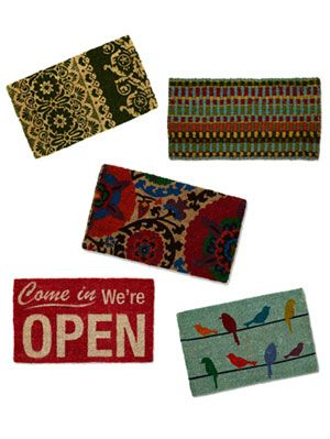 "<p>Have your home make a stylish statement even before guests enter your house. Perk up your front step with chic, affordable doormats<span style=""color: #000000&#x3B; font-family: Tahoma, Geneva, sans-serif&#x3B; font-size: 14px&#x3B; font-style: normal&#x3B; font-variant: normal&#x3B; font-weight: normal&#x3B; letter-spacing: normal&#x3B; line-height: 19px&#x3B; orphans: auto&#x3B; text-align: start&#x3B; text-indent: 0px&#x3B; text-transform: none&#x3B; white-space: normal&#x3B; widows: auto&#x3B; word-spacing: 0px&#x3B; -webkit-text-size-adjust: auto&#x3B; -webkit-text-stroke-width: 0px&#x3B; background-color: #ffffff&#x3B; display: inline !important&#x3B; float: none&#x3B;"">—</span>all less than $35. To guarantee your mat is cheerful <em>and</em> functional, adhere rug tape or a few lines of silicone caulking to the back (let dry before using) to keep it from sliding as you wipe your feet. Click through for our top picks for marvelous mats. <em><br /></em></p>"