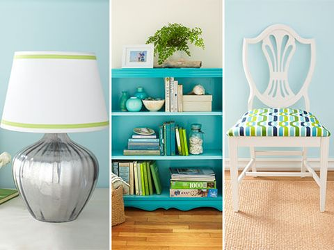 "<p class=""p1"">That old dining room chair. That dusty bookcase. That lifeless lamp. They each can feel new again in 45 minutes or less—and for no more than $20. Click to get our colorful ideas for freshening up your home quickly and cost-effectively.</p>"
