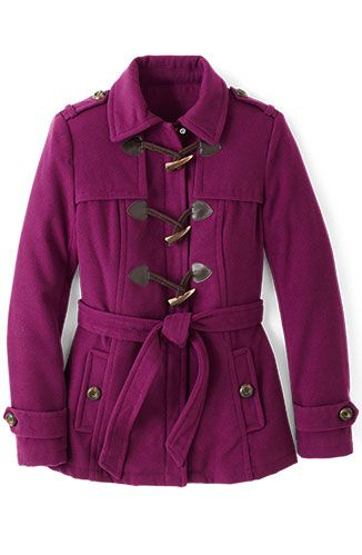 <p>In a bold plum hue, this faux-wool jacket will cover your core without swallowing up a shorter frame.</p><p><em>George Fashion Faux Toggle, $39.86&#x3B; Walmart stores (Sizes S to 3X.)</em></p>