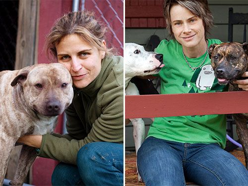 "<p>In 2007, a chestnut-brown pit bull named Sweet Jasmine was carried, skinny and terrified, into a Washington, DC, animal rescue center. The dog, a survivor of football star Michael Vick's infamous Bad Newz kennel (an illegal dog-fighting operation that tortured and killed dozens of dogs), had been badly abused. As volunteer Catalina Stirling helped assess her for placement in a foster home, she felt Sweet Jasmine's pain. ""It seemed like she wished the ground would swallow her up,"" says Catalina, who was so affected by the dog's plight that she adopted her. When Sweet Jasmine died in 2009, Catalina felt she had to do more for other dogs like her. ""It was astounding how many pit bulls came into the shelter from abusive homes,"" says fellow volunteer Kate Callahan. As the two friends talked more, Catalina and Kate gradually formed a plan to help the dogs: They founded Jasmine's House, a nonprofit rescue organization that aims to save and rehabilitate neglected, abandoned or abused pit bulls. ""I love all dogs,"" says Kate, ""but we decided to focus on pit bulls because they're the ones most in need.""</p>"