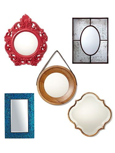 Freshen up a wall—and your lipstick—with a stylish looking glass. From bold patterns to soft-toned selections, these finds are your wall's next best friends. To protect these picks, skip the harsh cleansers. Instead, dust a mirror's glass and frame with a microfiber cloth so you don't ruin the finish.