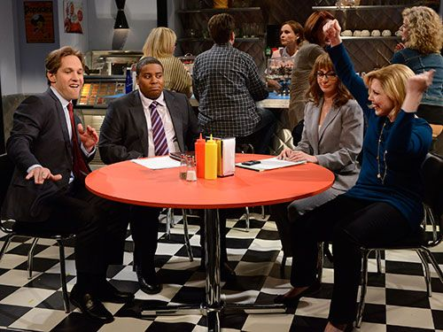 "<p>Did you catch the <em>Saturday Night Live</em> sketch with Paul Rudd and Vanessa Bayer sitting in a diner with their divorce lawyers? The splitting couple argues nonstop—that is, until the Fleetwood Mac song ""I Don't Wanna Know"" comes on. Then, the two start singing and dancing, forgetting that they <a href=""http://www.womansday.com/sex-relationships/dating-marriage/should-i-get-a-divorce"" target=""_self"">want a divorce</a>. It turns out many couples have moments like this. Hearing a certain song, seeing a certain photo or even saying a certain word is all it takes to stop fighting and start laughing. Check out the creative tricks the following couples use to diffuse disputes in mere seconds. </p>"