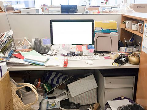 """<p>""""My desk was such a source of anxiety for me. I don't think it was about not having the time to clean it—I was just overwhelmed and didn't know where to start. Yes, it was harder to work. I spent 10 minutes looking for things that could've been easily tucked into a file folder. Instead there were piles and more piles!""""</p>"""