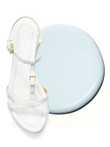 "<p>These strappy sandals along with this barely blue hue come together in perfect harmony.</p> <p><em>Liz Clairborne White Flat Sandal, $34.99; </em><a href=""http://www.jcpenney.com/shops/people-stylewatch/flat-sandals/liz-claiborne-nina-sandals/prod.jump?ppId=pp5003630398&searchTerm=liz+clairborne+sandal&catId=SearchResults&colorizedImg=DP0205201418243078C.tif"" target=""_blank""><em>JCPenney.com</em></a><em></em></p> <p><em>Essie Find Me an Oasis, $8.50; </em><a href=""http://www.amazon.com/Essie-Resort-Fling-Polish-Colors/dp/B00HVKJD7I/ref=sr_1_1?ie=UTF8&qid=1401466266&sr=8-1&keywords=essie+find+me+an+oasis"" target=""_blank""><em>Amazon.com</em></a><em></em></p> <p><strong>See also: </strong><a href=""http://www.womansday.com/style-beauty/beauty-tips-products/spring-nail-polish-colors"" target=""_self""><strong>Spring's Hottest Nail Polish Colors</strong></a><strong></strong></p>"