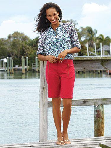 """<p>WD's Bargain huntress and style editor brings you her favorite deals and discoveries. <em></em></p><p><em>Sofia by Sofia Vergara Zip-Embellished Bermuda Shorts, $19.98&#x3B; </em><a href=""""Kmart.com"""" target=""""_blank""""><em>Kmart.com</em></a></p>"""
