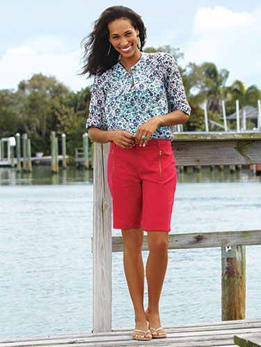"<p>WD's Bargain huntress and style editor brings you her favorite deals and discoveries. <em></em></p> <p><em>Sofia by Sofia Vergara Zip-Embellished Bermuda Shorts, $19.98; </em><a href=""Kmart.com"" target=""_blank""><em>Kmart.com</em></a></p>"