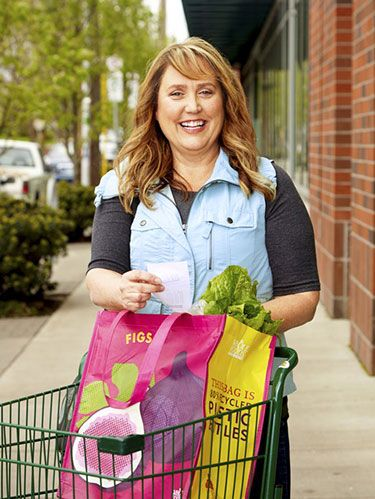 "<p>Her trick: She sorts her groceries.<strong> </strong>""After going through the supermarket, I pull up a second cart and take out all the 'want' items—like ice cream, soda, cookies—as opposed to the 'need' items. Then I add up how much I would have spent buying the want items, and I stick the savings in my travel fund. It's like window shopping: I get to savor the idea of buying these things, but then I use the money to travel instead. It also doesn't feel so hard to put aside what I was willing to spend on junk anyway.""<strong></strong></p> <p>Bonus tip: Some stores, like Stop & Shop, offer handheld bar code scanners so you can tally your grocery bill as you go along. Use these devices to figure out how much more you'll have for your vacation by resisting the ""want"" items. If your resolve flags, ask yourself what you want more: that pack of chips—or the white sands of the Bahamas.</p>"