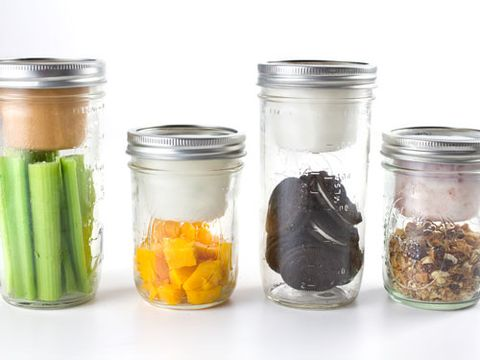 "<p>Before the Mason jar, food-preservation used to be quite the tricky task. These days, the glass bottles go <em>way</em> beyond that. Check out these nine accessories, which turn the jar into everything from a functional lunchbox to a flower holder.</p> <p>Taking your meals on the-go will be completely mess-free with this adapter for yogurts, dips and more. Fill your jar with your favorite snacks, and pop on the lid for snazzy snacking. </p> <p><em>Lunchbox Adapter, $8.99; </em><a href=""http://www.cuppow.com/collections/bnto-jar-lunchbox-adaptors"" target=""_blank""><em>Cuppow.com</em></a><em></em></p>"